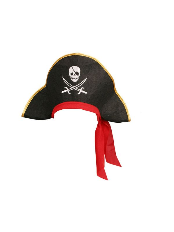 sombrero de pirata fieltro adulto