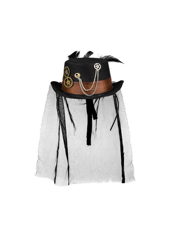sombrero mini con diadema de steampunk