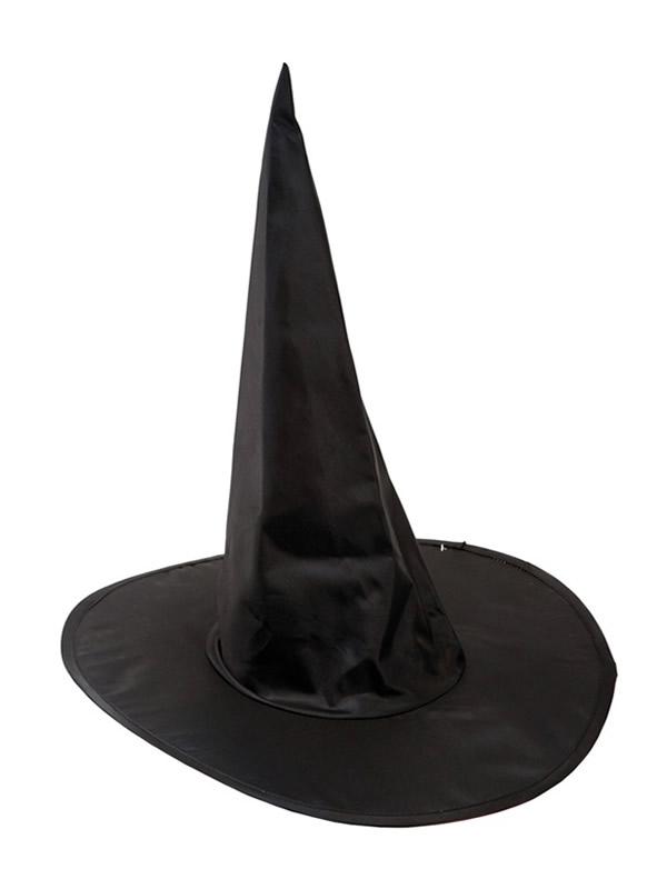 sombrero negro basico de bruja