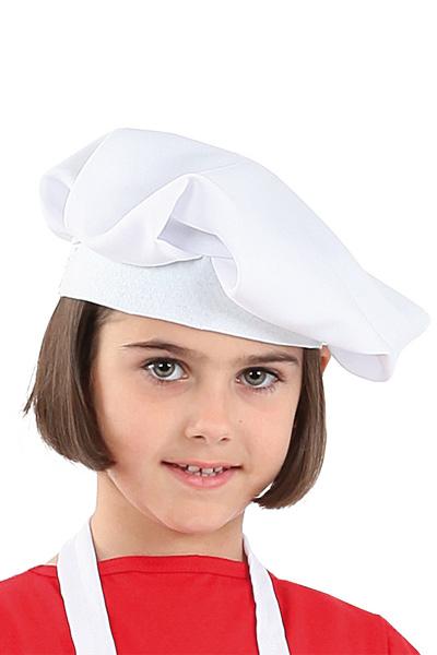 sombrero o gorra de cocinero infantil