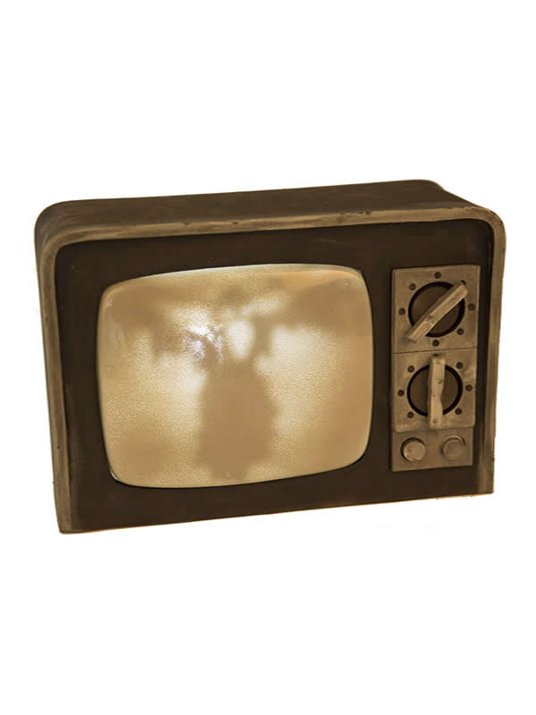 televisor de terror con luz y sonido de 31 cm