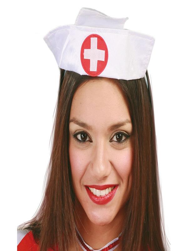 tocado cofia de enfermera adulto