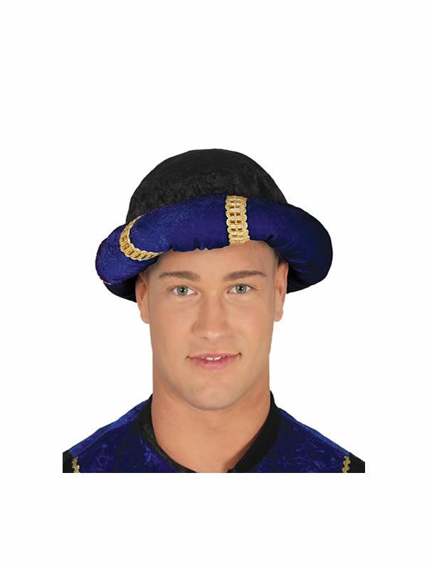 turbante de arabe azul adulto