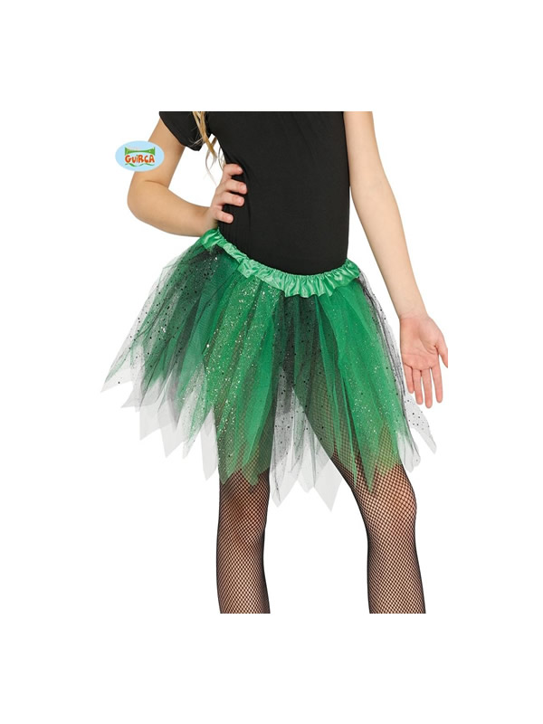tutu verde brillante 30 cms infantil
