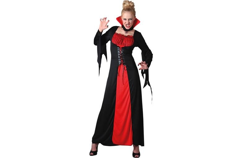 disfraz de vampiresa rojo