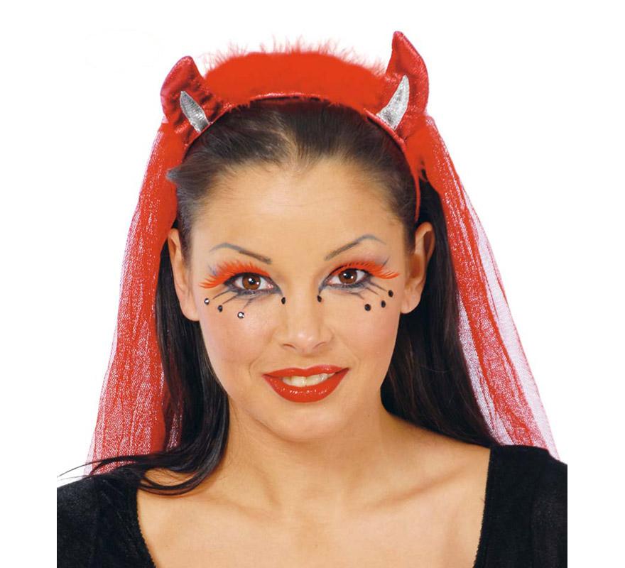 Diablo Maquillaje Top Mujer Con Cuchillo Y Maquillaje De Diablo En - Como-maquillar-a-una-diabla