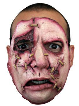 mascara con puntos y cicatrices para adultos 18