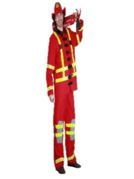 disfraz de bombero rojo hombre adulto