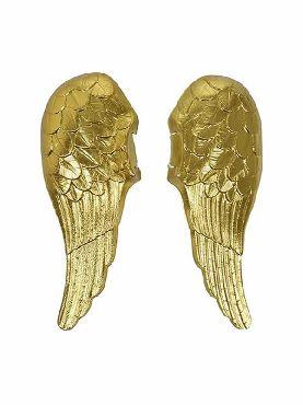 alas de angel doradas de plastico adulto 70x62 cm