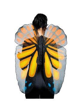 alas de mariposa naranja para adulto
