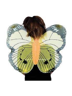 alas de mariposa verdes para niño