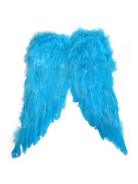 alas de plumas azules 30 x 38 cm