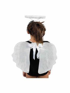 alas y aureola de angel blancas 55 cm
