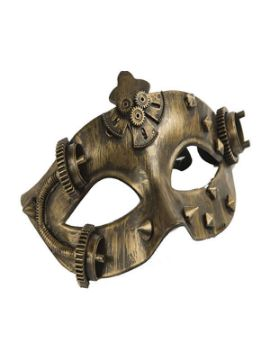 antifaz de steampunk color metal
