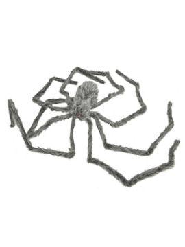 araña colgante gris peluda gigante 8 x 28 x 30 cm