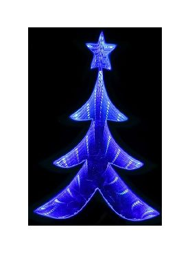 arbol de luz azul infinita 20 cms