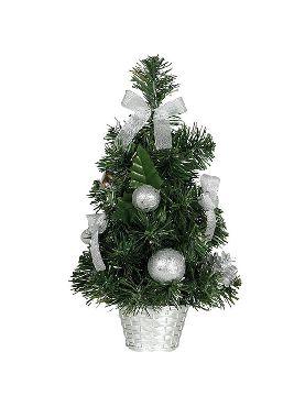 arbol de navidad plata de 40 cm con maceta