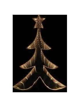 arbol plata con luz infinita 20 cms navidad