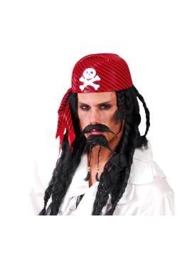 bandada o gorro pirata rayas adulto
