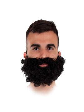 barba negra rizada