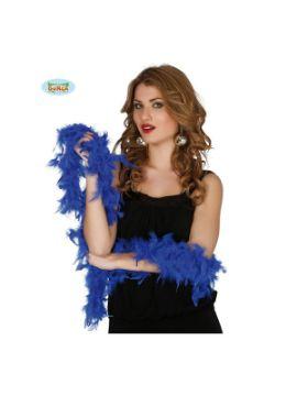 boa de plumas azul 180 cms 40 gramos