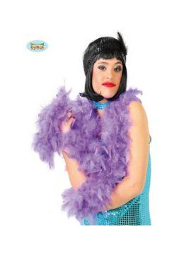boa de plumas lila 180 cms 40 gramos