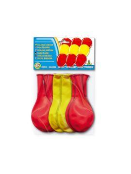 bolsa de 8 globos bandera española