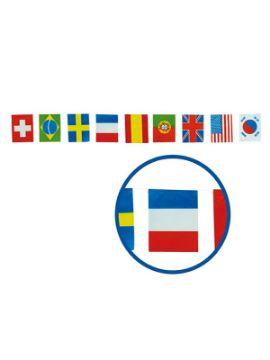 bolsa de banderas internacional 50 metros plastico