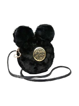 bolso bandolera mickey mouse suave negro disney