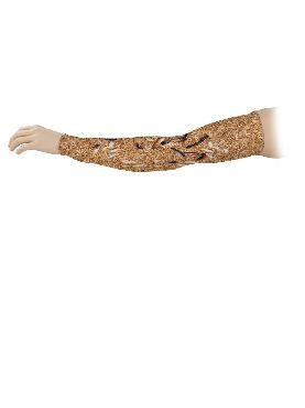 brazo con tatuaje gusanos estampado de licra