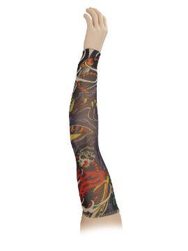 brazo con tatuaje dragón estampado de licra elastico 7 metros