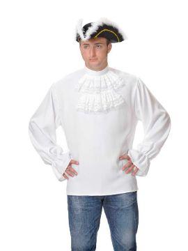 camisa con chorreras hombre adulto