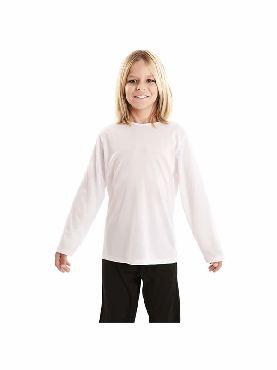 camiseta blanca basica infantil