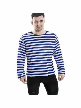 camiseta con rayas azules y blancas para adultos