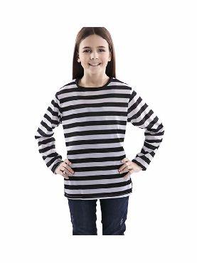 camiseta con rayas negras y blancas infantil