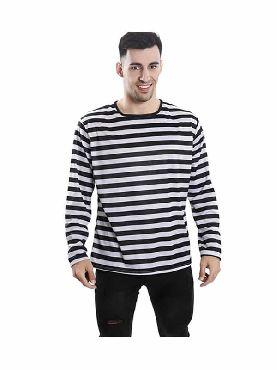 camiseta con rayas negras y blancas para adultos