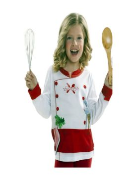 camiseta disfraz de chef infantil