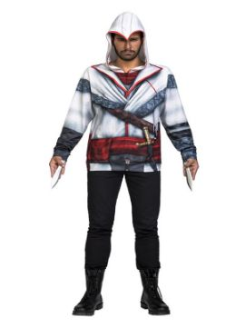 camiseta disfraz de nicolai assassins creed hombre