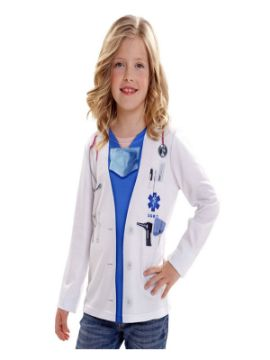 camiseta disfraz doctor o doctora para niño
