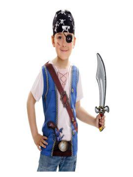 camiseta disfraz pirata para niño