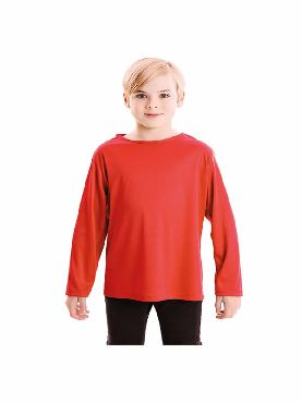 camiseta roja basica infantil
