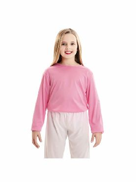 camiseta rosa basica infantil