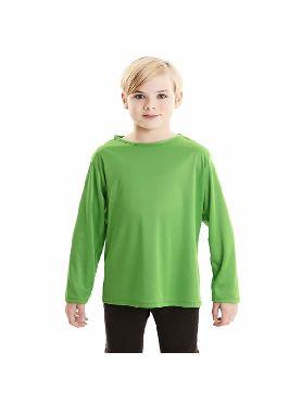camiseta verde basica infantil