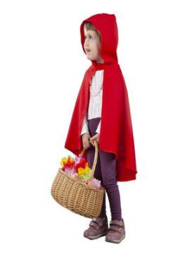 capa con capucha roja infantil