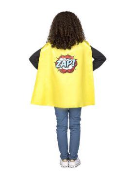 capa de superheroe amarilla infantil