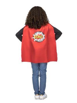 capa de superheroe roja infantil