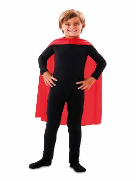 capa superheroe infantil roja de 70 cm