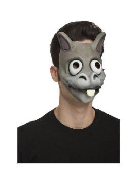 careta de burro gris