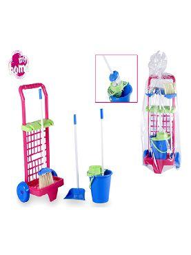 carrito set de limpieza