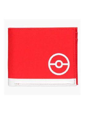 cartera billetera trainer tech pokemon roja